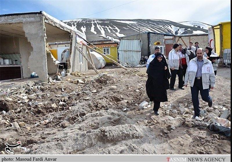 گزارش تصویری از تحویل سال نو در مناطق زلزله زده آذربایجان