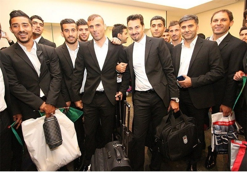 Iran Football Team Arrives in Brazil