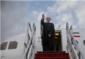 روحانی هواپیما رئیس جمهور پرواز ورود فرودگاه