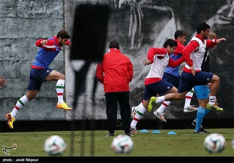 نخستین تمرین تیم ملی فوتبال در ملبورن
