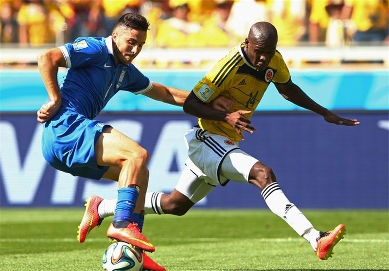 Colombia Eases Past Greece in Group C Opener