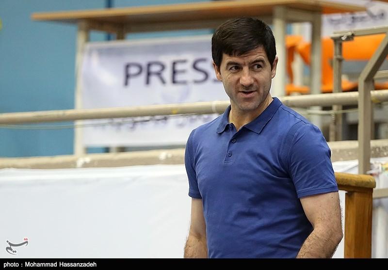 حضور کریم باقری در تمرین تیم ملی والیبال ایران