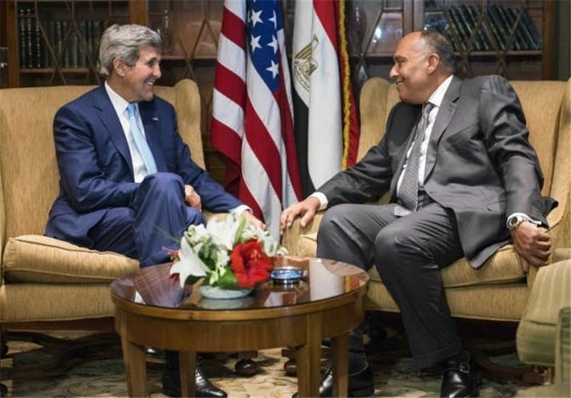 وزیر الخارجیة الامریکی یعقد لقاء مع نظیره المصری فی القاهرة