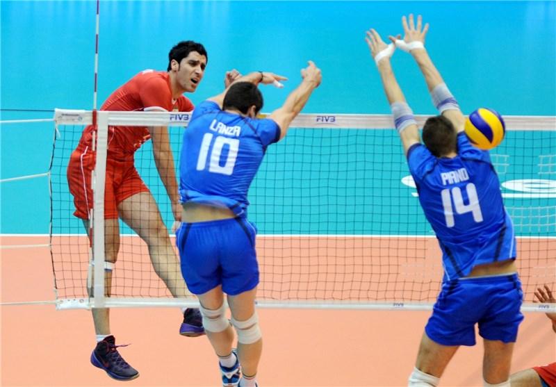 والیبال ایران ایتالیا محمودی