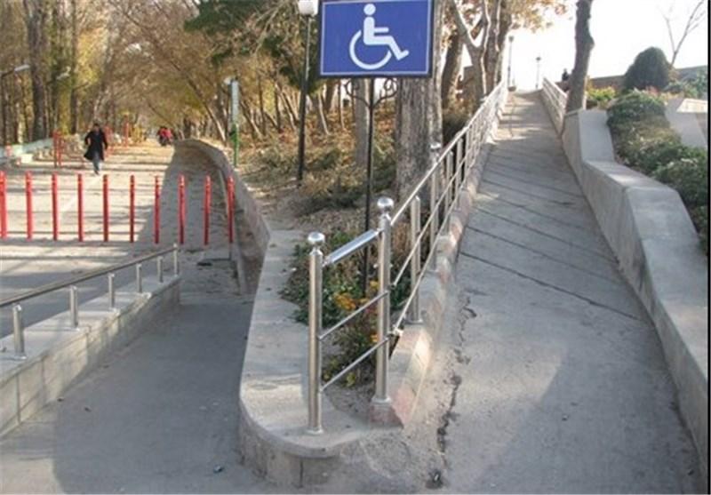 معابر شهر ایلام برای معلولان مناسب نیست