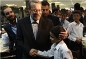 رئیس مجلس در مراسم تشییع پیکر خیر آملی شرکت کرد