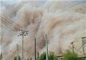 وزش بادهای شدید و گردوخاک در شمال سیستان و بلوچستان و زابل