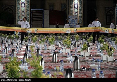 Iftar Ceremony in Holy Shrine of Imam Reza (AS)