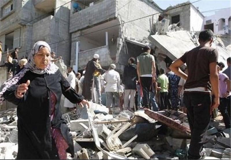 بمباران منازل رهبران فلسطینی/ منزل الزهار با خاک یکسان شد
