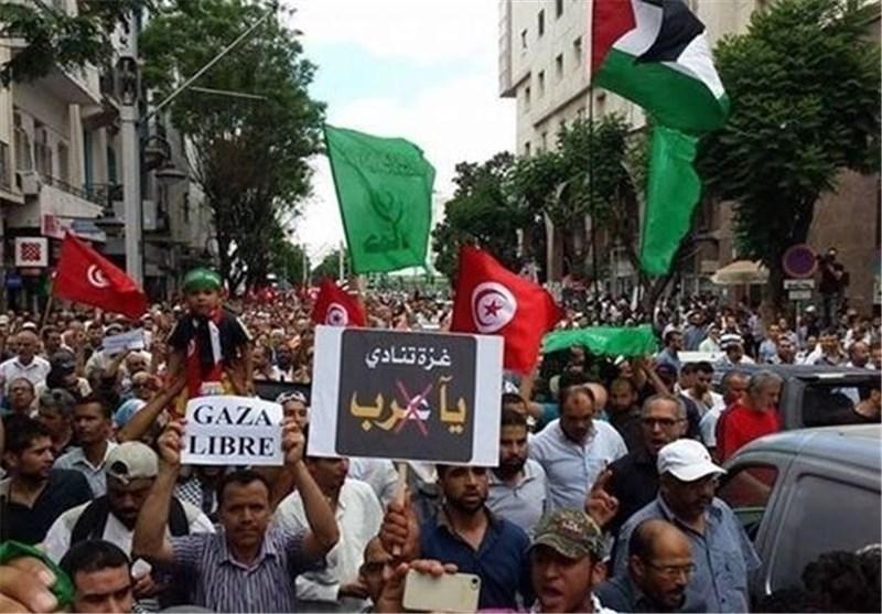 استمرار تنظیم مسلمی العالم التظاهرات دعما للشعب الفلسطینی المسلم فی غزة