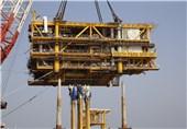 آخرین وضعیت ساخت ابرسازه های پارس جنوبی در سواحل خلیج فارس