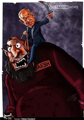 کاریکاتور/ افسار داعش در دست آدم کشها