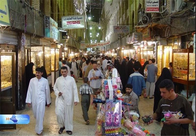 شرطة محافظة النجف العراقیة تبدا منع التداول بالبضائع الترکیة والقطریة والسعودیة