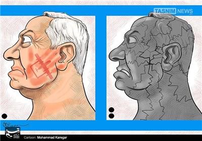 کاریکاتور/ سیلی پهپاد مقاومت بر صورت نتانیاهو