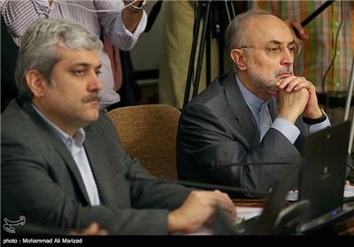 علی اکبر صالحی رئیس سازمان انرژی اتمی و سورنا ستاری معاون علمی و فناوری ریاست جمهوری