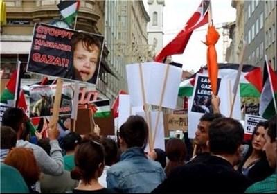 تظاهرات فی شتی ارجاء العالم دعما للشعب الفلسطینی