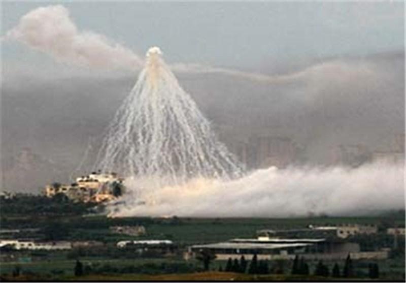 قوات کیان الارهاب الصهیونی تطلق قنابل فسفوریة وتستخدم أسلحة محرمة دولیا فی غزة