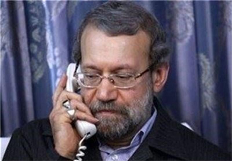 لاریجانی یدعو لتکثیف المشاورات لإیقاف الاعتداءات الصهیونیة فی غزة