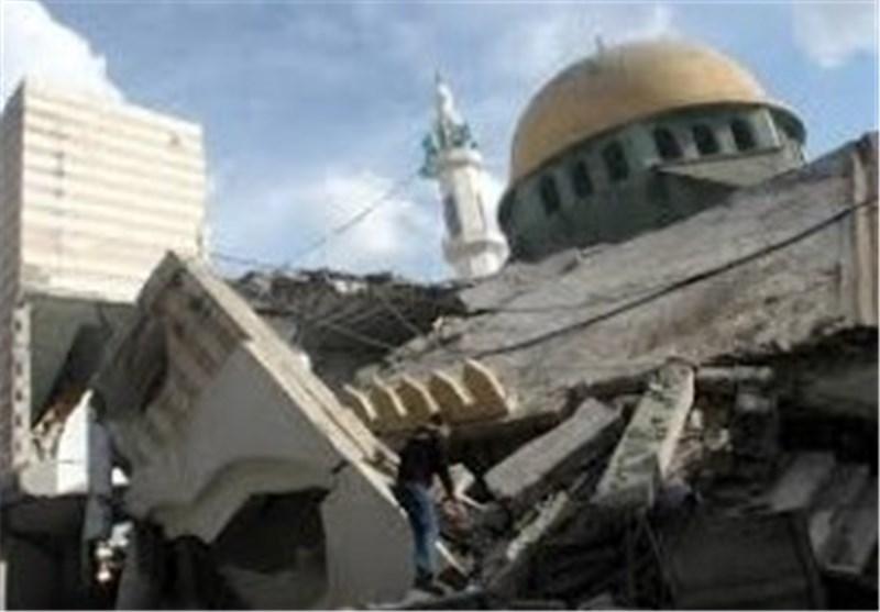 الطائرات الحربیة الصهیونیة تدمر 3 مساجد فی قطاع غزة