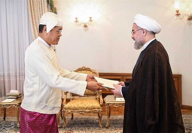 روحانی و سفیر میانمار
