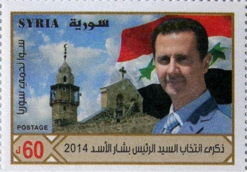 إصـدار 3 طوابع بریدیة جدیدة فی سوریا بمناسبة انتخاب الرئیس بشار الأسد + صور