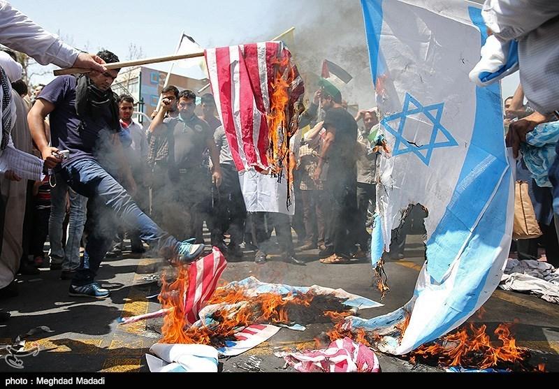 گزارش کامل خبرنگاران تسنیم از خروش ضداسرائیلی مردم تهران در روز قدس + عکس
