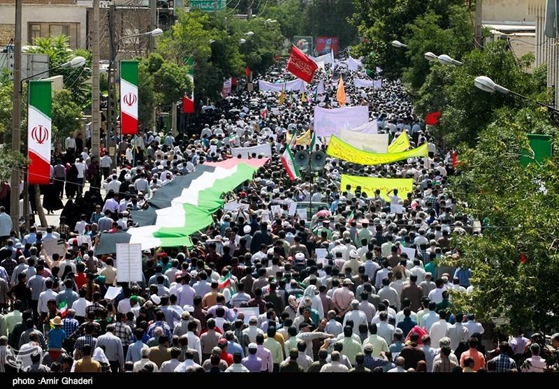 İran'da Kudüs Günü Yürüyüşü