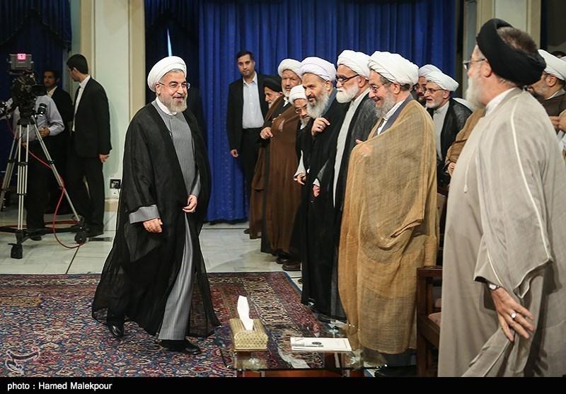 Iranian President Meets Religious Scholars, Clerics