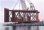 عملیات نصب جکت نخستین سکوی فاز 11 پارس جنوبی آغاز شد
