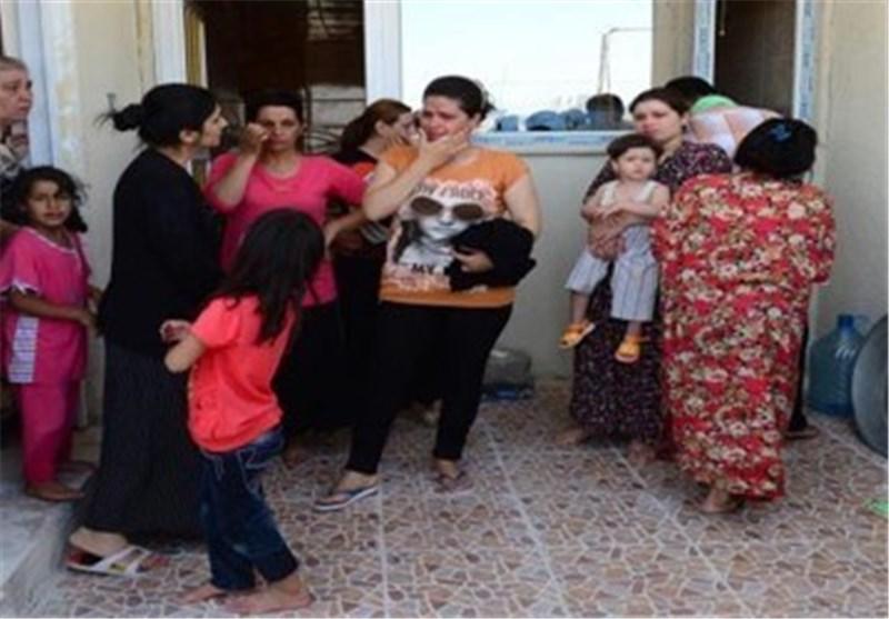 """الهلال الاحمر العراقی:""""داعش"""" أقتادت نساء ایزیدیات ومسیحیات من مطار تلعفر لمکان مجهول لبیعهن سبایا؟!"""