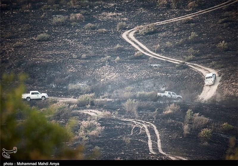 7 هکتار از اراضی جنگل گلستان دچار حریق شد