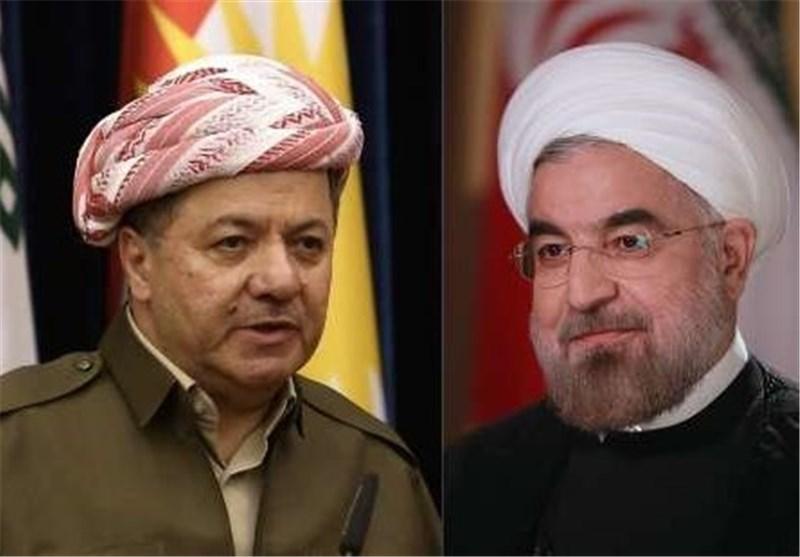 البرزانی یشید بالدعم الذی تقدمه ایران للاکراد