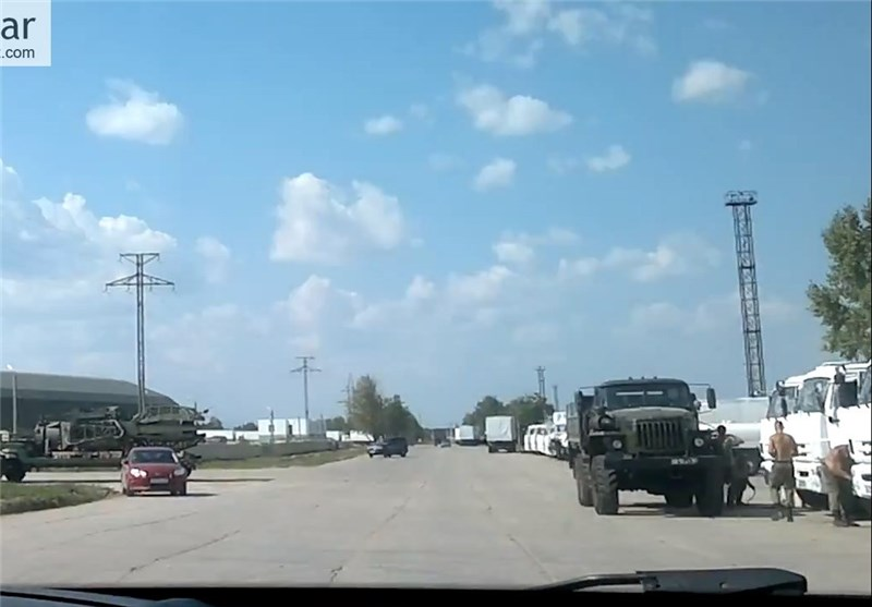 Russia's 12th Humanitarian Aid Convoy Arrives at Border