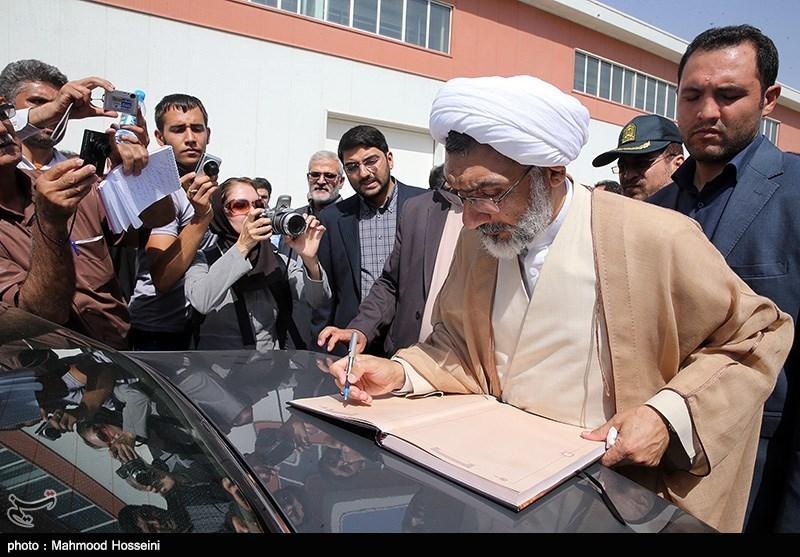 بازدید حجت الاسلام مصطفی پورمحمدی وزیر دادکستری از یکی از کارخانجات تولید مواد غذایی در استان البرز