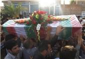 تشییع شهید در گتوند خوزستان