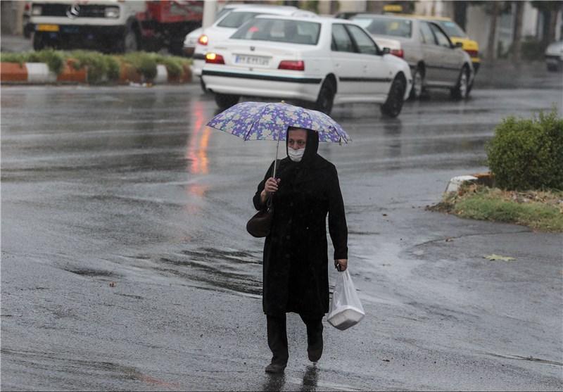 بارندگیها تا فردا در همدان تداوم دارد/کاهش سرعت وزش باد