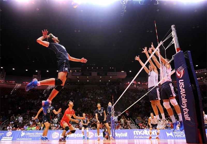 Iran Volleyball Team Loses to US in USAV Cup