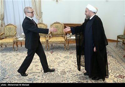 Photos: IAEA Chief Meets with Iranian President