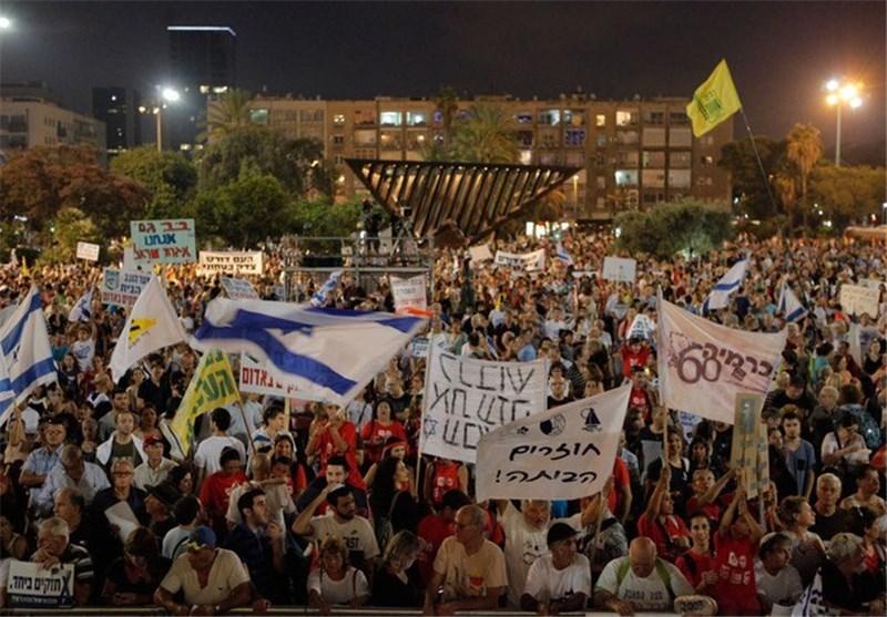 آلاف الصهاینة یتظاهرون فی تل أبیب مطالبین باقالة حکومة الارهابی نتنیاهو