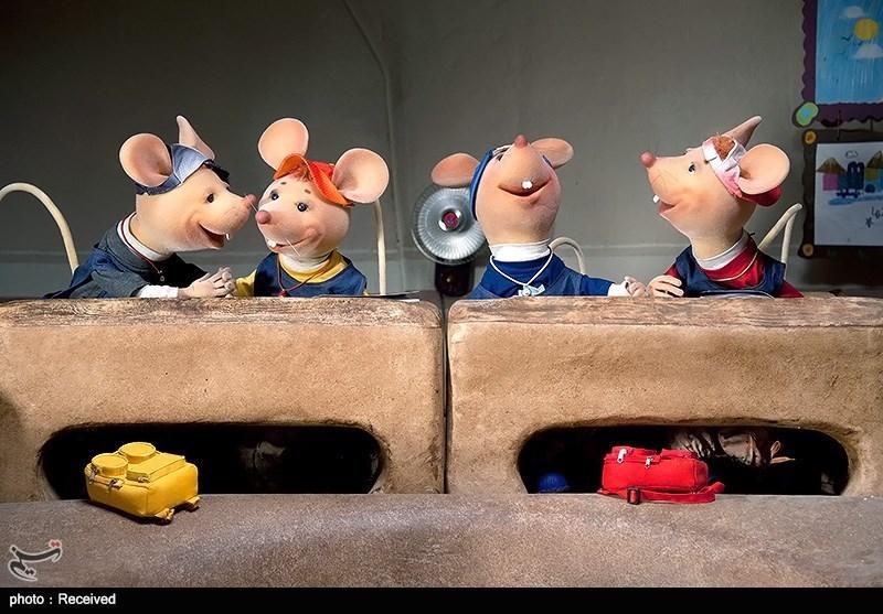 عکس پشت صحنه شهر موش ها