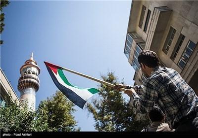 تجمع طلبة وعلماء الدین دعما لأهالی غزة
