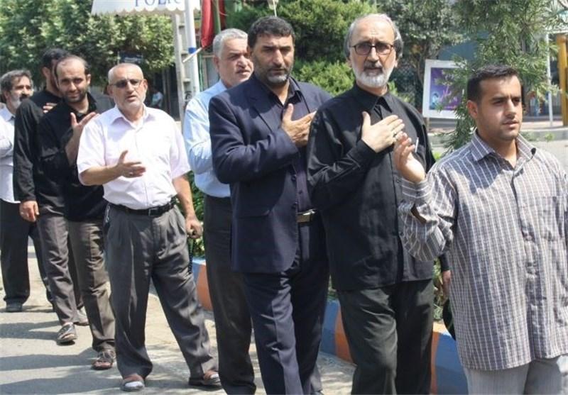عزاداری نمازگزاران سیاهکلی در روز شهادت امام صادق (ع)