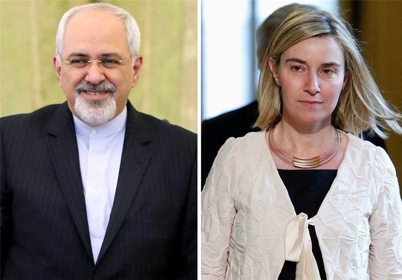 Iran's Zarif, EU's Mogherini Confer on Nuclear Negotiations