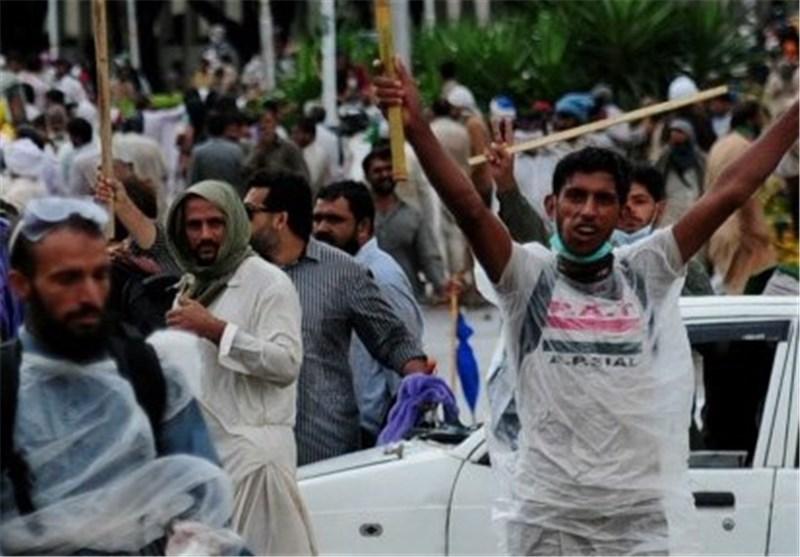 تظاهرات کنندگان در پاکستان