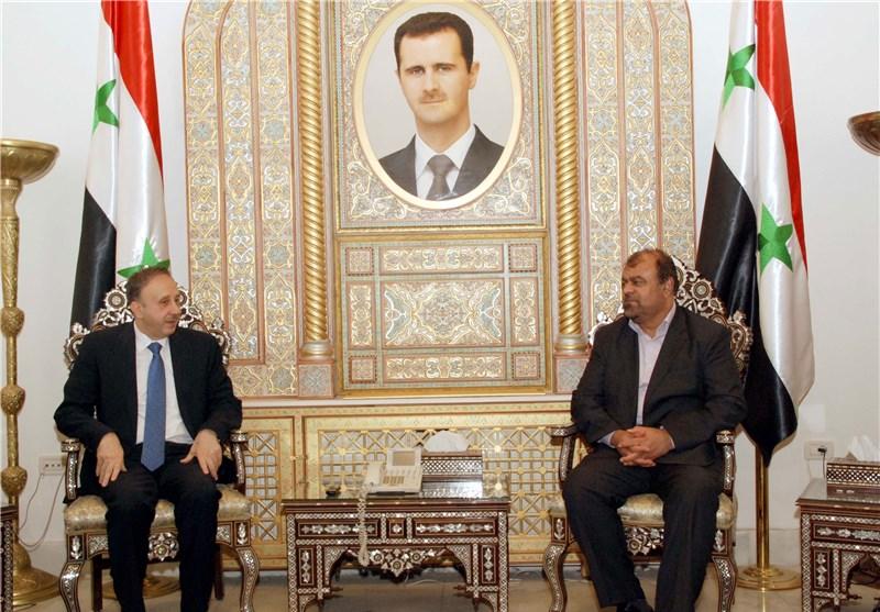 رئیس مجلس الشعب السوری یرحب بدور إیران الاسلامیة فی إعادة إعمار سوریا+صورة