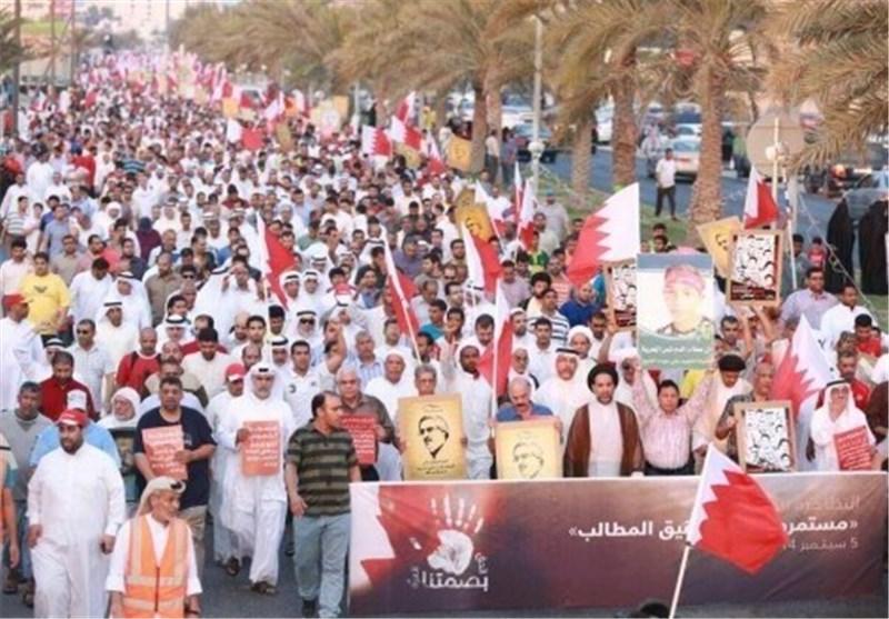 """تظاهرة حاشدة غرب المنامة... والمعارضة ترفض """"المشاریع الترقیعیة"""""""