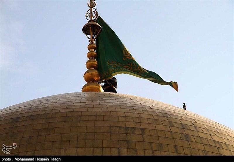 پرچم سبز رضوی بر بلندای اورامانات به اهتزاز درآمد