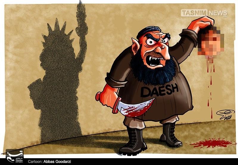 کاریکاتور/ ماهیت داعش آمریکایی