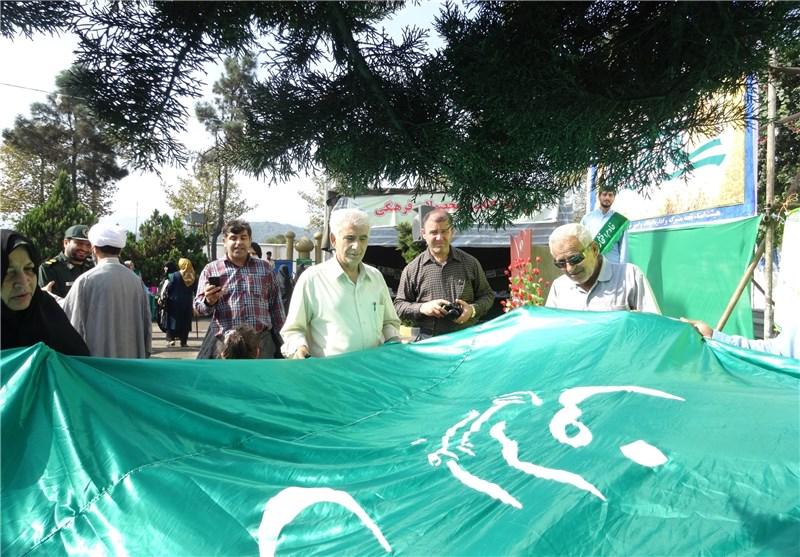 اهتزاز پرچم امام رضا(ع) در لنگرود