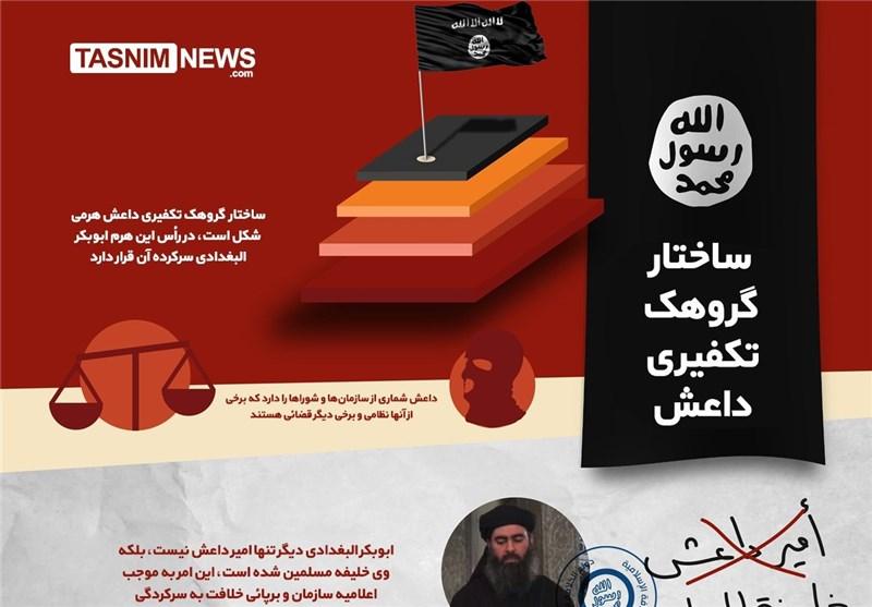 اینفوگرافیک/ ساختار گروهک تکفیری داعش